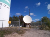 Highlight for Album: The 3.8m VSAT Dish in Sioux Lookout